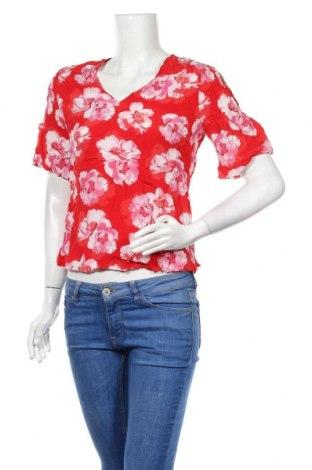Дамска блуза David Lawrence, Размер M, Цвят Червен, Коприна, Цена 28,56лв.