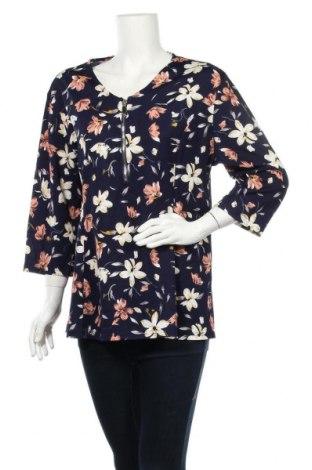 Дамска блуза Lilia, Размер XXL, Цвят Син, Полиестер, еластан, Цена 15,96лв.