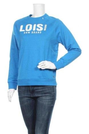 Дамска блуза Lois, Размер S, Цвят Син, Памук, Цена 20,65лв.
