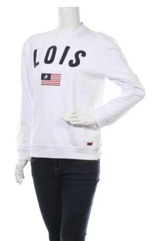 Дамска блуза Lois, Размер S, Цвят Бял, Памук, Цена 24,15лв.