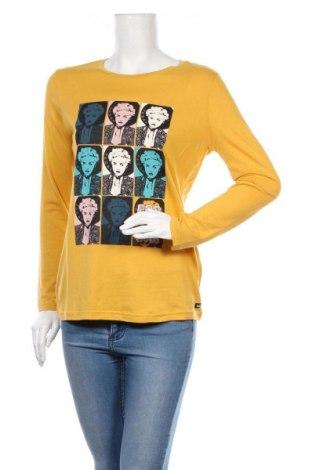 Дамска блуза Lois, Размер S, Цвят Жълт, 50% памук, 50% модал, Цена 17,25лв.