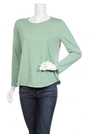 Дамска блуза Sussan, Размер M, Цвят Зелен, Памук, Цена 14,28лв.
