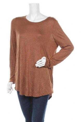 Дамска блуза Sussan, Размер L, Цвят Кафяв, 55% вискоза, 45% полиестер, Цена 17,96лв.