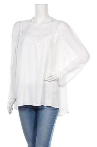 Дамска блуза Violeta by Mango, Размер XL, Цвят Бял, Полиестер, Цена 10,80лв.