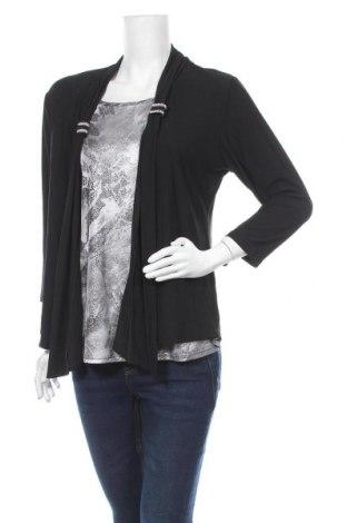 Дамска блуза Wishstone, Размер M, Цвят Черен, Памук, полиестер, Цена 6,04лв.