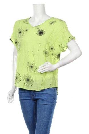 Дамска блуза Wishstone, Размер S, Цвят Зелен, Памук, вискоза, Цена 3,00лв.