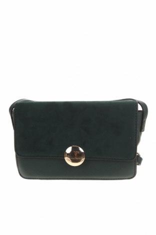 Дамска чанта, Цвят Зелен, Еко кожа, текстил, Цена 19,79лв.