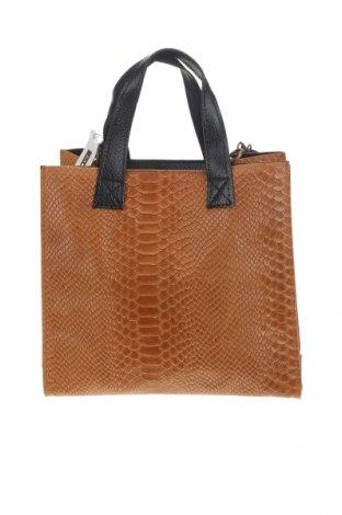 Γυναικεία τσάντα, Χρώμα Καφέ, Γνήσιο δέρμα, Τιμή 46,01€