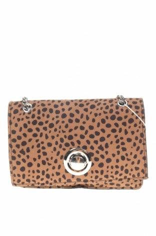 Γυναικεία τσάντα Bershka, Χρώμα Καφέ, Κλωστοϋφαντουργικά προϊόντα, Τιμή 12,37€