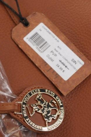 Γυναικεία τσάντα Beverly Hills Polo Club, Χρώμα Καφέ, Δερματίνη, Τιμή 46,01€