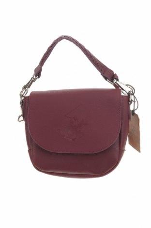 Γυναικεία τσάντα Beverly Hills Polo Club, Χρώμα Κόκκινο, Δερματίνη, Τιμή 30,54€