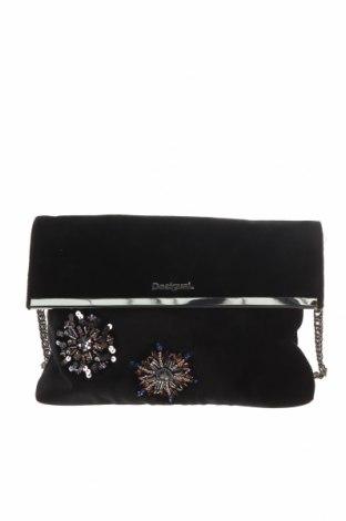 Γυναικεία τσάντα Desigual, Χρώμα Μαύρο, Κλωστοϋφαντουργικά προϊόντα, Τιμή 57,60€