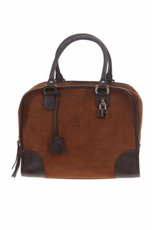 Γυναικεία τσάντα El Potro, Χρώμα Καφέ, Φυσικό σουέτ, γνήσιο δέρμα, Τιμή 49,87€