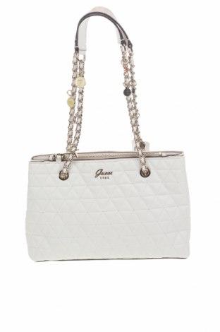 Γυναικεία τσάντα Guess, Χρώμα Λευκό, Δερματίνη, Τιμή 96,26€