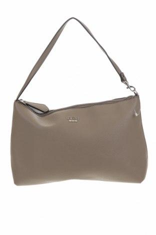 Γυναικεία τσάντα Guess, Χρώμα Γκρί, Δερματίνη, Τιμή 88,53€