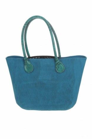 Γυναικεία τσάντα O bag, Χρώμα Μπλέ, Πολυουρεθάνης, γνήσιο δέρμα, Τιμή 51,80€
