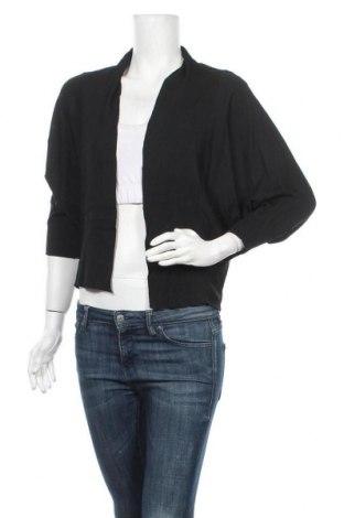 Дамска жилетка, Размер S, Цвят Черен, 85% памук, 10% полиестер, 5% еластан, Цена 6,30лв.