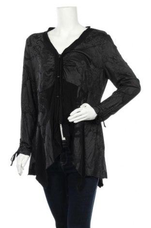 Cardigan de damă Tuzzi, Mărime XL, Culoare Negru, 95% viscoză, 5% elastan, Preț 69,63 Lei
