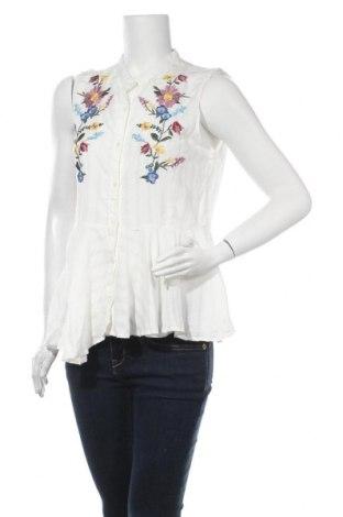 Γυναικείο πουκάμισο Cortefiel, Μέγεθος M, Χρώμα Λευκό, Βισκόζη, Τιμή 17,78€