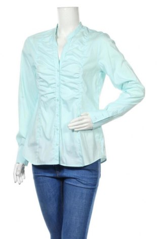 Дамска риза Eterna, Размер M, Цвят Син, 65% памук, 30% полиамид, 5% еластан, Цена 5,78лв.