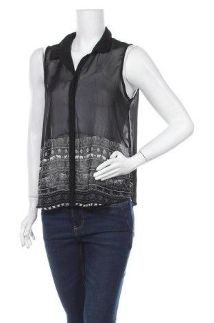 Γυναικείο πουκάμισο Girl Xpress, Μέγεθος M, Χρώμα Μαύρο, Πολυεστέρας, Τιμή 3,86€