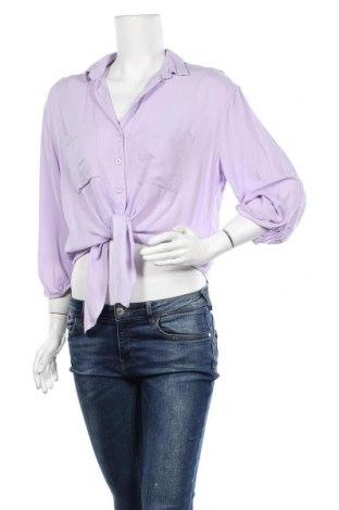 Γυναικείο πουκάμισο H&M Divided, Μέγεθος L, Χρώμα Βιολετί, 100% βισκόζη, Τιμή 11,69€