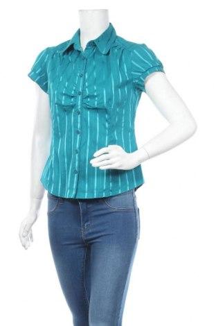 Дамска риза Hot Options, Размер M, Цвят Зелен, Памук, полиамид, еластан, Цена 5,36лв.