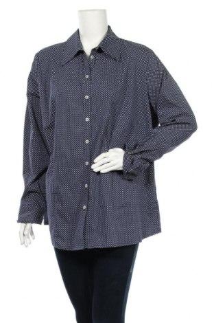 Дамска риза Via Appia, Размер XXL, Цвят Син, 63% памук, 33% полиестер, 4% еластан, Цена 6,58лв.