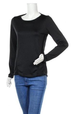 Дамска спортна блуза Active By Tchibo, Размер S, Цвят Черен, 92% полиестер, 8% еластан, Цена 6,05лв.