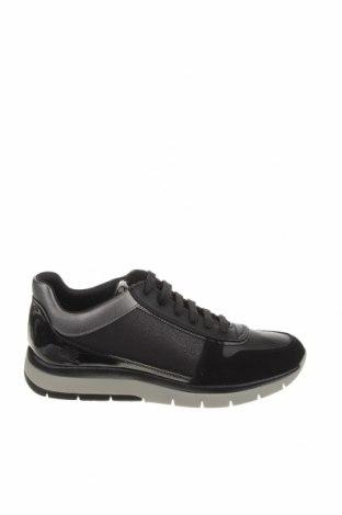 Γυναικεία παπούτσια Geox, Μέγεθος 38, Χρώμα Μαύρο, Δερματίνη, κλωστοϋφαντουργικά προϊόντα, φυσικό σουέτ, Τιμή 88,53€