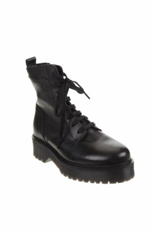Дамски боти Zign, Размер 37, Цвят Черен, Естествена кожа, Цена 209,00лв.