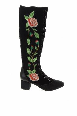 Дамски ботуши Miss L Fire, Размер 38, Цвят Черен, Текстил, еко кожа, Цена 288,00лв.