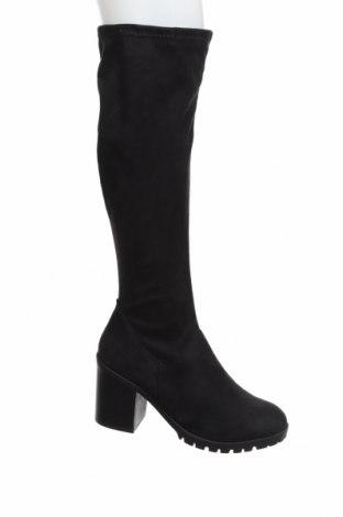 Дамски ботуши New Look, Размер 41, Цвят Черен, Текстил, Цена 96,00лв.