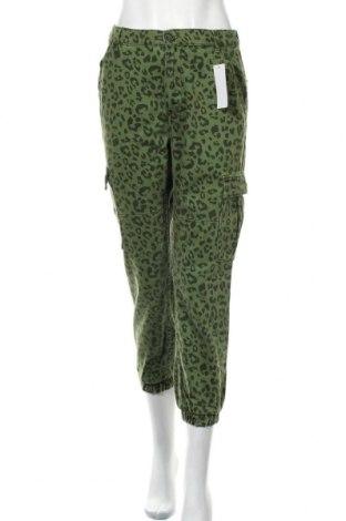 Дамски дънки Bershka, Размер S, Цвят Зелен, 100% памук, Цена 24,71лв.