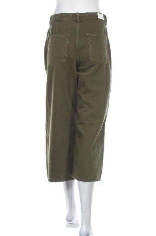 Дамски дънки Bershka, Размер S, Цвят Зелен, Памук, Цена 22,98лв.