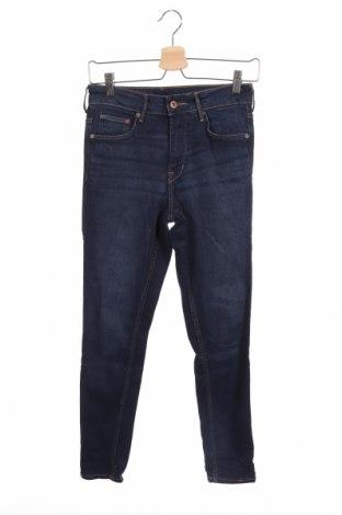 Дамски дънки H&M, Размер XS, Цвят Син, 98% памук, 2% еластан, Цена 8,11лв.