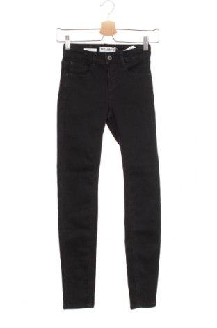 Дамски дънки Pull&Bear, Размер XXS, Цвят Черен, 66% памук, 29% полиестер, 3% вискоза, 2% еластан, Цена 16,09лв.
