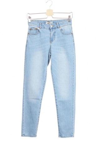 Дамски дънки Pull&Bear, Размер XXS, Цвят Син, 99% памук, 1% еластан, Цена 16,82лв.