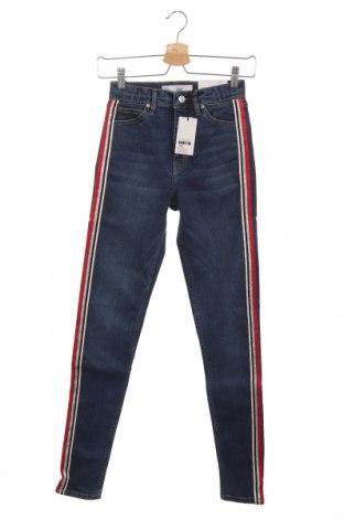 Дамски дънки Topshop, Размер S, Цвят Син, 92% памук, 8% еластан, Цена 27,99лв.