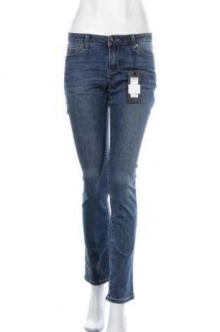 Дамски дънки Zero, Размер S, Цвят Син, 69% памук, 27% полиестер, 3% вискоза, 1% еластан, Цена 66,75лв.