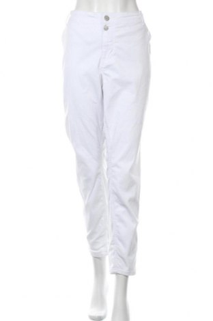 Дамски дънки Zizzi, Размер 3XL, Цвят Бял, 97% памук, 3% еластан, Цена 23,68лв.