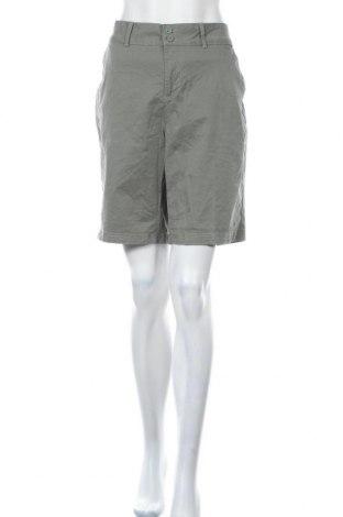 Дамски къс панталон Brilliant, Размер XL, Цвят Зелен, Памук, еластан, Цена 13,44лв.