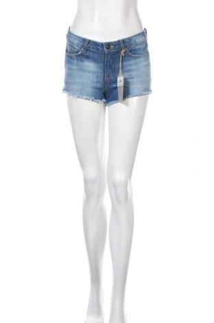 Дамски къс панталон Springfield, Размер S, Цвят Син, Памук, Цена 12,60лв.