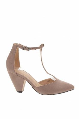Дамски обувки ASOS, Размер 38, Цвят Бежов, Текстил, Цена 31,15лв.