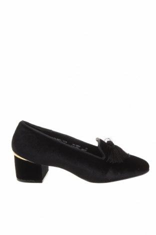 Дамски обувки Cortefiel, Размер 39, Цвят Черен, Текстил, Цена 39,68лв.
