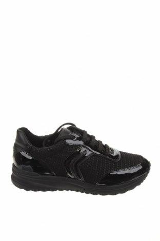 Γυναικεία παπούτσια Geox, Μέγεθος 37, Χρώμα Μαύρο, Κλωστοϋφαντουργικά προϊόντα, δερματίνη, Τιμή 76,94€
