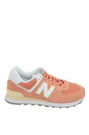Γυναικεία παπούτσια New Balance, Μέγεθος 38, Χρώμα Πορτοκαλί, Φυσικό σουέτ, δερματίνη, κλωστοϋφαντουργικά προϊόντα, Τιμή 69,20€