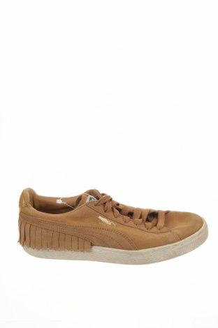 Дамски обувки PUMA, Размер 38, Цвят Кафяв, Естествен велур, Цена 37,80лв.