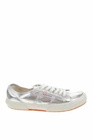 Γυναικεία παπούτσια Superga, Μέγεθος 40, Χρώμα Ασημί, Κλωστοϋφαντουργικά προϊόντα, Τιμή 33,77€