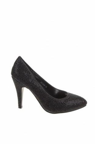 Дамски обувки Venca, Размер 36, Цвят Черен, Текстил, Цена 30,38лв.